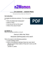 Lesson Plans for Women's Journal No 1
