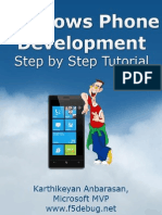 Windows Phone Development Step by Step Tutorial