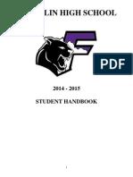 2014-2015 franklin student handbook