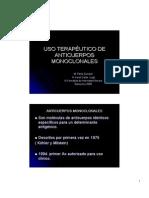 Uso Terapeutico Anticuerpos Monoclonales