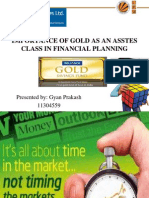 Importance of Gold As An Assets Class In Financial Planning