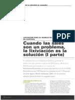 Cuando Las Sales Son Un Problema, La Lixiviacion Es La Solucion (Parte I)