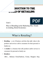 Economic Significance of Retailing in India
