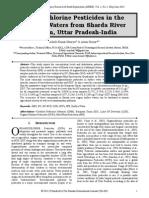 Organochlorine Pesticides in the Surface Waters from Sharda River Region, Uttar Pradesh-India