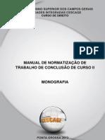 Normas TCC - Cescage Direito