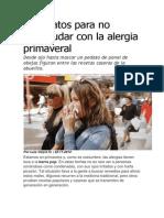 Diez Datos Para No Estornudar Con La Alergia Primaveral