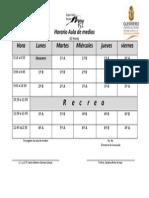 Horario Aula de Medios 2014-2015
