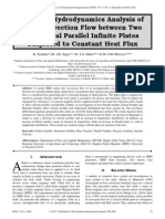 Magneto-Hydrodynamics Analysis of Free Convection Flow between Two Horizontal Parallel Infinite Plates Subjected to Constant Heat Flux