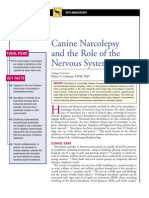 CANINE-Canine Narcolepsy and the Role of the Nervous System