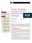 CANINE-Canine Transfusion Reactions.part 2.Prevention and Treatment