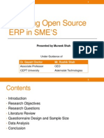 Exploring Open Source ERP in SME's
