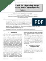 FDTD Method for Lightning Surge Propagation of Power Transmission Lines
