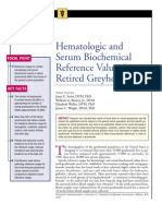 CANINE-Hematologic and Serum Biochemical Reference Values in Retired Greyhounds