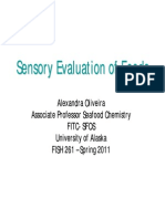 261 Lecture 18 Sensory Evaluation (White) 3-2-2011