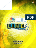 LIME 6 Rule Book for B-Schools 2014
