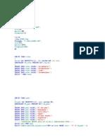 Create Database Scrum