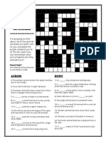 Crossword Puzzle Animals