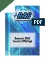 Ras Courses Summer2006