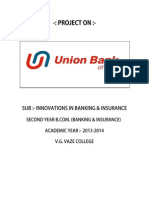 Union Bank of India (Project Report)