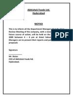 Business Communication - Notice, Agenda & MOM