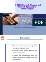 RG CDMA Network Planning and Network Optimization Cases Analysis