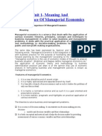 Manegerial Economics for Quick Revision
