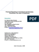 Financial Reporting in Transitional and Emerging