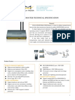 f3824 Lte&Wcdma Wifi Router Specification