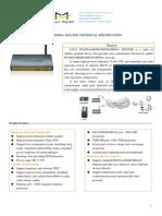 F3425 WCDMA&HSDPA&HSUPA&HSPA+ ROUTER SPECIFICATION