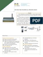 f3625 Cdma2000 1x Evdo Router Specification