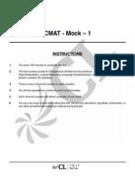 CMAT Mock Test