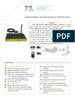 F7425 GPS+WCDMA&HSDPA&HSUPA&HSPA+ ROUTER SPECIFICATION