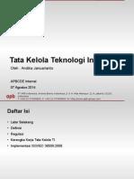 Tata Kelola TI - 07 Agustus 2014