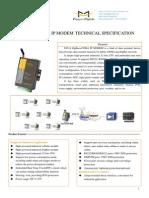 F8214 ZigBee+CDMA IP MODEM TECHNICAL SPECIFICATION