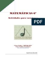 Matematicas 6o Vacaciones 2009