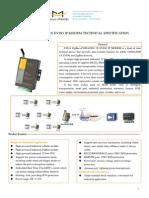 F8614 ZigBee+EVDO IP MODEM TECHNICAL SPECIFICATION