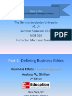 Business Ethics - Part 2 - Chapter 5