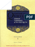 Tafsir Al-qurtubi classical Commentary Of The Holy Quran Volume -1 Translated By Aisha Bewley