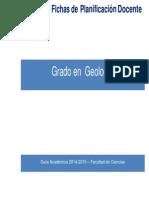 Grado en Geologia PF 2014-2015