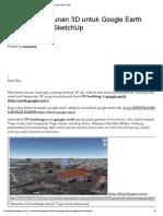 Membuat Bangunan 3D Untuk Google Earth Menggunakan SketchUp « Tutorial Teknik Sipil