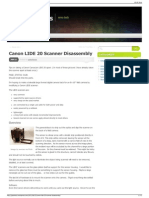 Canon LIDE 20 Scanner Disassembly Goat Strings