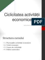 Ciclicitatea Activitatii Macroeconomice