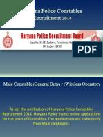 Haryana Police Constables Recruitment 2014