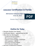 educator certification - presented by david lajeunesse