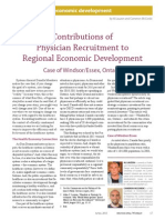 Contributions of Physician Recruitment to Regional Economic Development