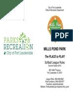 Mills Pond Park Softball_rules