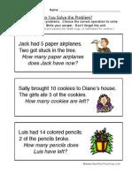 Word Problem Worksheet 1
