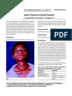 Hypokalaemic Thyrotoxic Periodic Paralysis