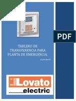 Tablero de Transferencia Para Planta de Emergencia(Lovato)