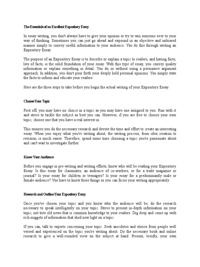 expository essay guide essays epistemology